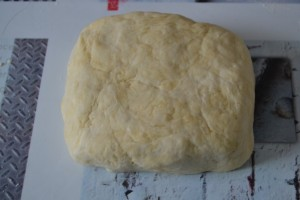 pâte en forme de carré