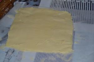 Beurre formé en carré