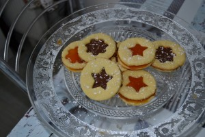 Sablés confiture d'abricot et pâte à tartiner