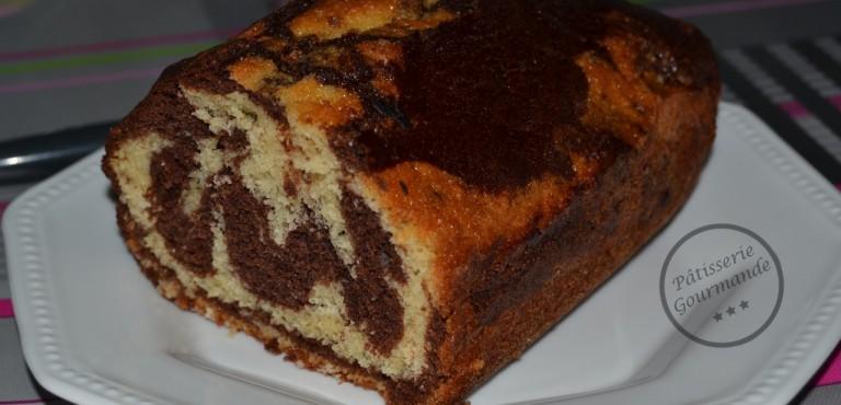 Cake marbré chocolat