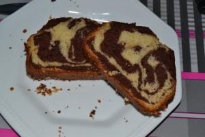 Part de cake marbré