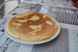 Dessus du pancake