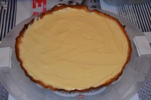 Crème citron lissé sur pâte sucrée
