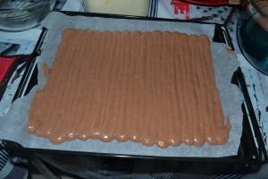 Bande régulière de pâte pour biscuit chocolat