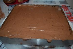 Mousse au chocolat sur biscuit chocolat