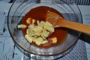 Ajout du beurre au caramel