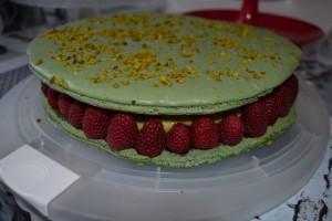 macaron pistache framboises & fraises