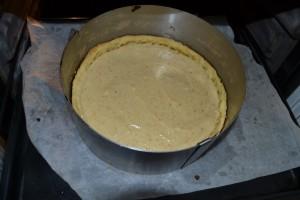 crème lissé sur fond de pâte sucrée