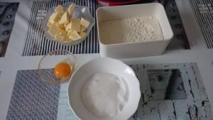 ingrédient pour pâte sablée