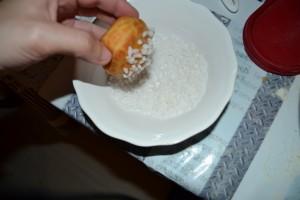 tête des choux  dans le sucre en grains