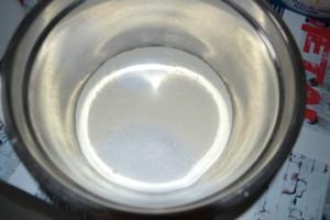 mélange farine, sel et sucre semoule