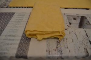 4 ème et dernier plis de pâte sur elle même