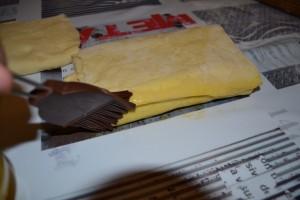 dorure sur le coté de la pâte (soudure)