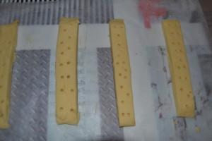 Bande de pâte piquer