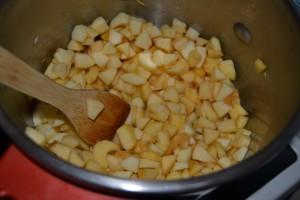 pommes couper en dés avec jus de citron