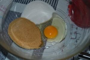 œuf et 2 sucres
