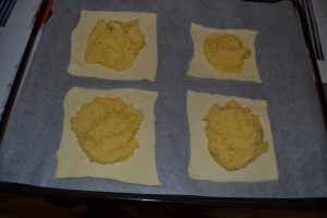 Crème d'amande au centre de la pâte