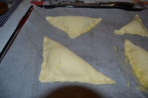 (Angle du haut sur celui du bas) triangle de pâte bien souder