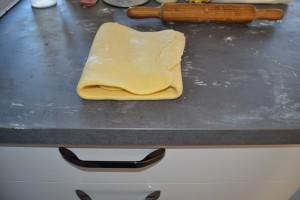 1er tour de la  pâte