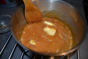 ajout du beurre froid