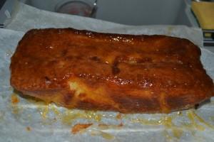 cake napper de confiture d'abricot
