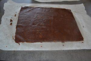 rectangle de pâte cacao