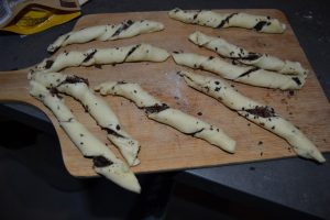 pâte torsadée au pépites de chocolat