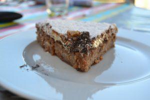 part de cake vanille - noisette