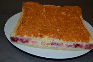 gâteau magique vanille - framboise