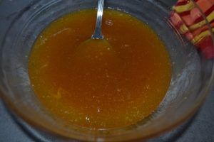 œufs mélanger à la préparation