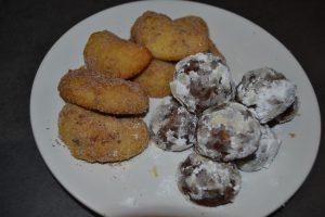 croissants aux fruits sec et boules chocolat