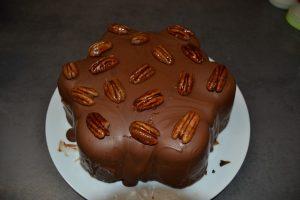cake décorer de noix de pécan caramélisée