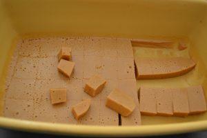 caramel coupé en cubes