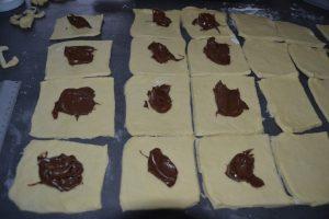 ajout de pâte à tartiner chocolat