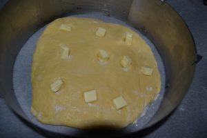 brioche sur plaque de cuisson
