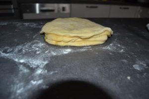 disques de pâte déposer les uns sur les autres