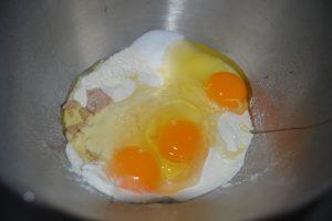 ajout des œufs