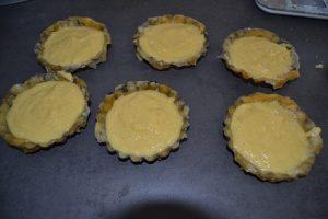 moules garnis de crème frangipane