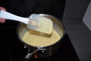 spatule nappée de crème