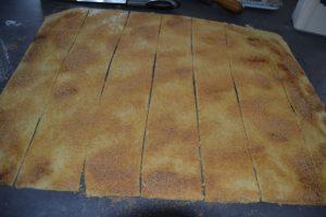 pâte couper en carré