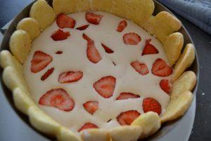 ajout des fraises coupés en 2
