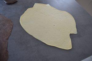 disque de pâte vanillée
