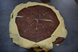 effeuillage de chaque épaisseur de pâte