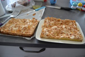 gâteau coupé en 2 dans la largueur
