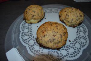 buns chocolat et cookies