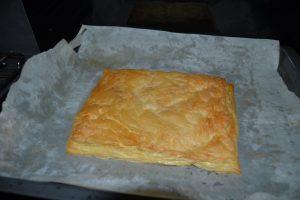 pâte feuilletée cuite et dorée