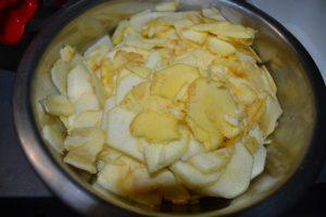 pommes découper en lamelles