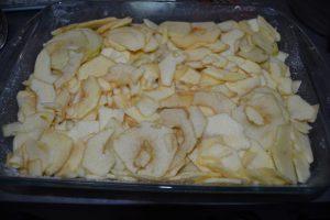 2 eme couche de lamelles de pommes