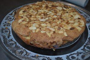 gâteau parsemer d'amandes effilées grillées
