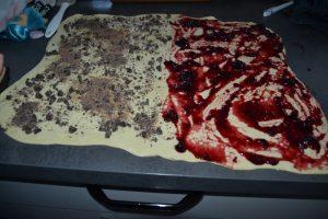 pâte parsemer de pépites de chocolat